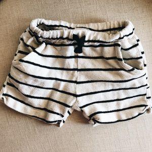 Zara baby soft terry shorts striped 12-18M